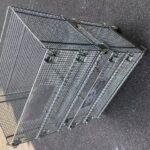メッシュボックス パレティーナ 800*500mm 折り畳み可能 中古 リユース 2段積み