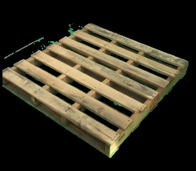 木製パレット 物流用 1050×1050×124mm 2方差し片面仕様 中古 リユース 熱処理