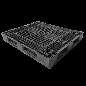 樹脂パレット 物流用 1300×1100×150mm 4方差し片面仕様 中古 リユース 斜め