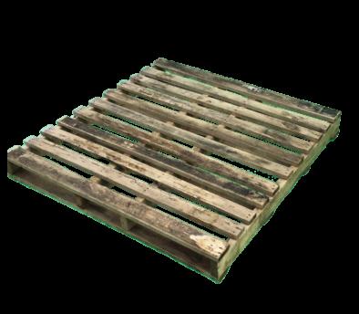 木製パレット 物流用 1150×1150×115mm 2方差し片面仕様 中古 リメイク