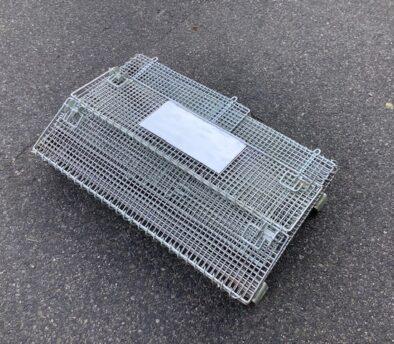 メッシュボックス パレティーナ 800*500mm 折り畳み可能 中古 リユース 収納状態