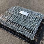 メッシュボックス パレティーナ 1200*1000mm 折り畳み可能 中古 リユース 折り畳み状態